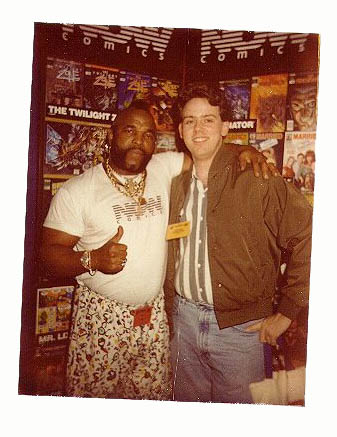 Rob Snell of Gun Dog Comics and Mister T at the Capital City Trade Show in 199x?